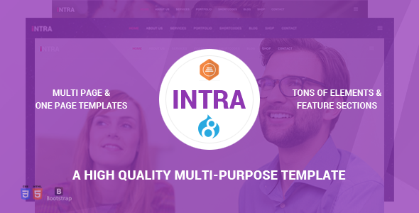 Intra - Multi-Page + One Page Multi-Purpose Drupal 8 Theme            TFx Hagop Nathaniel