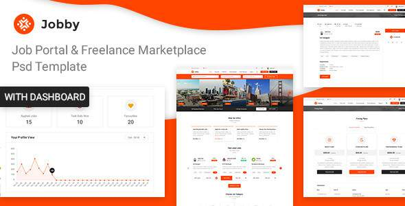 Jobby - Job Portal and Freelance Marketplace PSD Template            TFx Lawrence Stevie