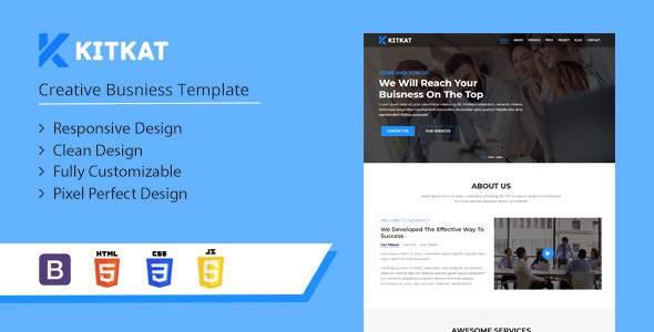 Kitkat – One Page Business Template            TFx Kichiro Felix