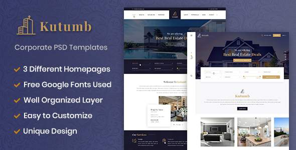 Kutumb – Real estate multipurpose PSD templates            TFx Fitz Nanuk