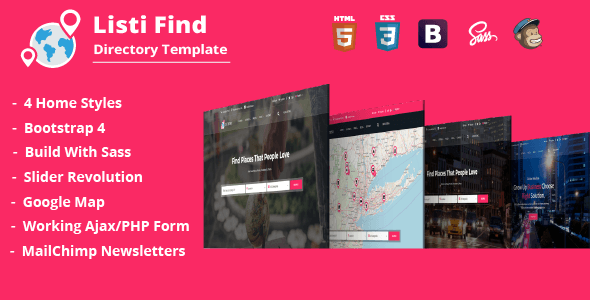 Listi Find - Directory & Listing Template            TFx Myles Guy