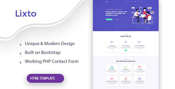 Lixto - One Page Agency HTML Template            TFx Shaun Clyde