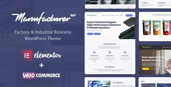 Manufacturer - Factory & Industrial Business WordPress Theme            TFx Lucky Caelan