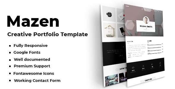 Mazen - Creative Portfolio Template            TFx Vedast Jewell