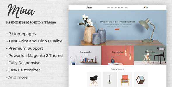 Mina – Responsive Furniture, Handmade Shop Magento 2 Theme            TFx Thomas Irving