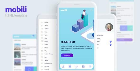 Mobili - HTML Mobile template            TFx Montgomery Cohen