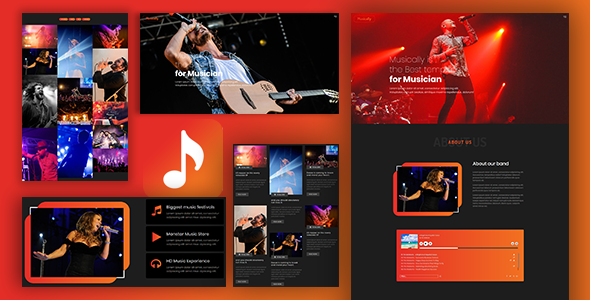 Musicalic – Music Band & Musician Template            TFx Jacob Kev