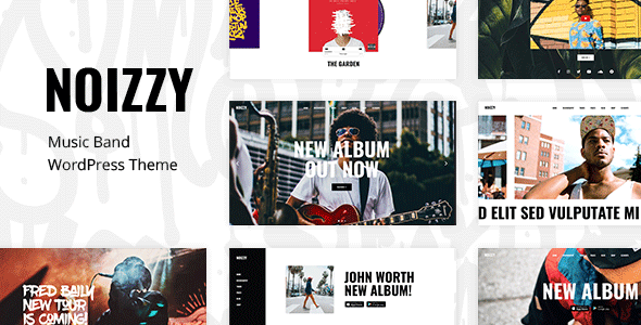 Noizzy - Music Band WordPress Theme            TFx Anderson Vivian