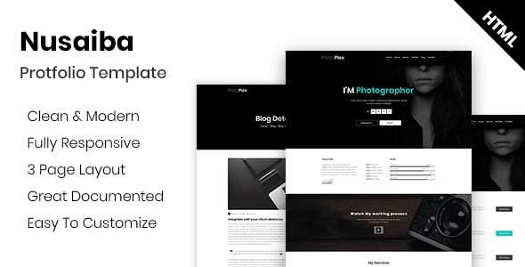 Nusaiba - Photography Portfolio HTML Template            TFx Lennon Hamilcar