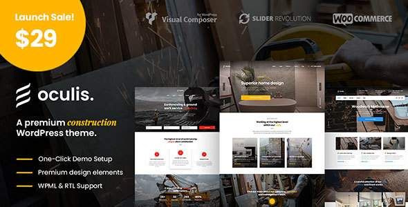 Oculis – Construction & Building WordPress Theme            TFx Rudolph Vaughn