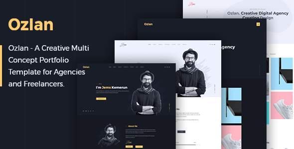 Ozlan - A Creative Multi-Concept Portfolio Template for Agencies and Freelancers            TFx Ferdy Bailey