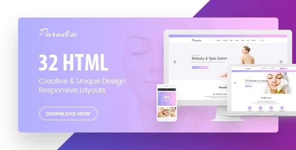 Paradise - Multipurpose HTML Template            TFx Cauã Gary