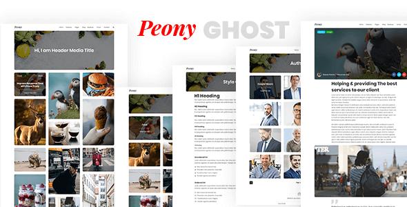 Peony – Responsive Premium Ghost Theme            TFx Braith Bud