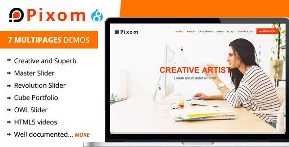 Pixom – Multipages Responsive Drupal 8 Theme | Business            TFx Claud Alton