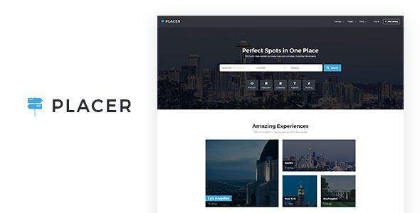 Plac - Geolocation & Directory Listing Template            TFx Edric Lavern