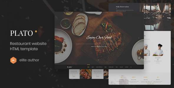 Plato – Restaurant & Food One Page HTML5 Template            TFx Maxwell Mattie