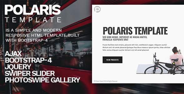 Polaris - Personal Portfolio Template            TFx Hewie Waldo
