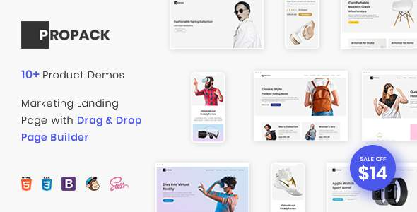 Propack - Marketing Landing Page Pack with Page Builder            TFx Rin Neely