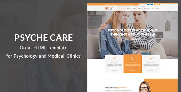 Psyche - Psychology and Counseling Site Template            TFx Aloysius Hideyoshi