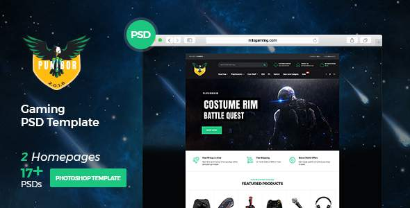 Punibor - Powerful Gaming PSD Template            TFx Seth Temujin