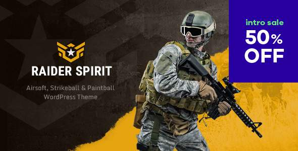 Raider Spirit | Airsoft Club & Paintball WordPress Theme            TFx Bishop Bazza