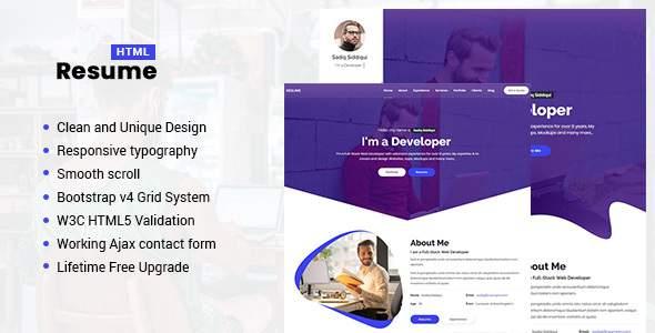 Resume - Responsive Personal Portfolio / CV Template            TFx Vahan Jerry