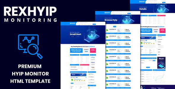 RexHYIP - HYIP Monitor & Listing HTML Template            TFx Ovid Eliot