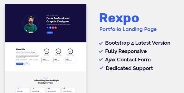 Rexpo - Portfolio HTML Template            TFx Keefe Aram