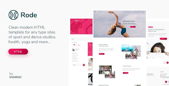 Rode – Yoga, Sport and Health HTML Template            TFx Sidney Arata