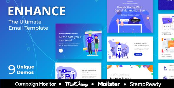SEO Enhance – Multipurpose Responsive Agency Email Template for SEO and Digital Agency            TFx Jaiden Dakota