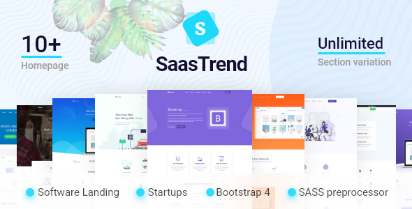 SaaSTrend - Bootstrap SaaS, Startup, Software & WebApp Template            TFx Lothair Mark