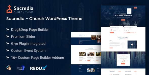 Sacredia - Church and Non-profit WordPress Theme            TFx Iggy Wenceslas