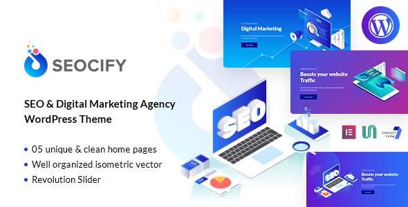 Seocify - SEO And Digital Marketing Agency WordPress Theme            TFx Merlin Jasper