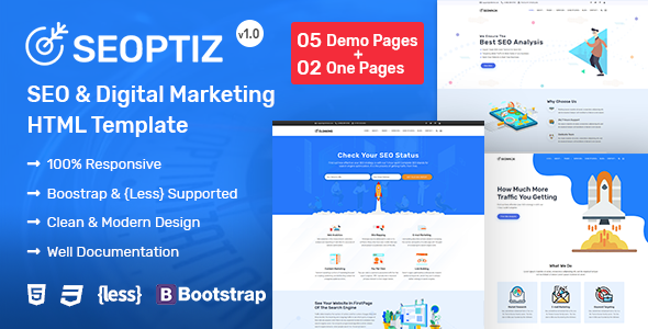 Seoptiz – SEO & Digital Marketing Agency HTML Template            TFx Zane Noboru