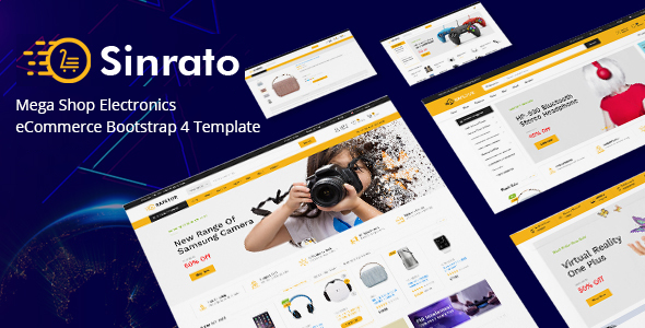 Sinrato – Mega Shop Electronics eCommerce Bootstrap 4 Template            TFx Hall Fitz