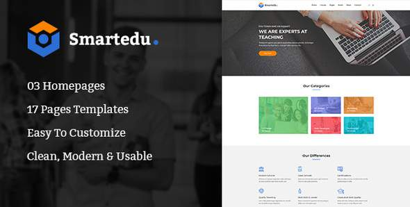 SmartEdu | Education & Courses PSD Template            TFx Cody Vere