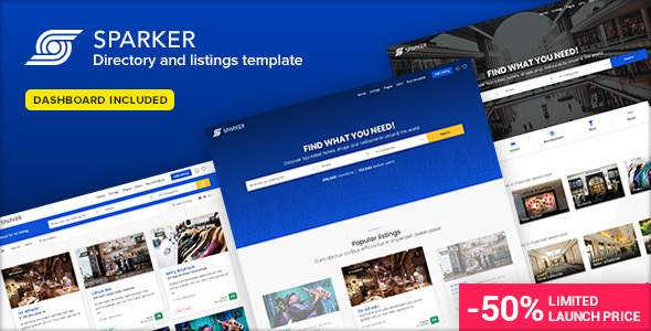 Sparker – Directory and Listings Template            TFx Ed Thom