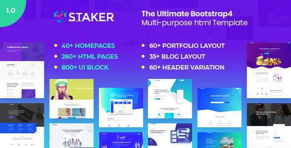 Staker – Multi-Purpose HTML5 Template            TFx Edvard Felix