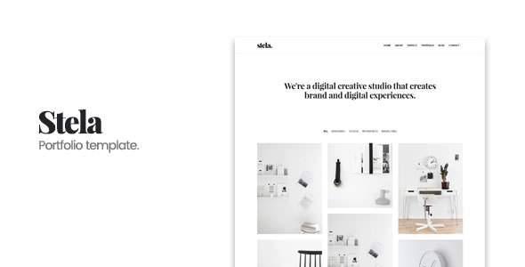 Stela - Minimal Portfolio HTML Template            TFx Diggory Wilkie