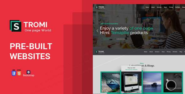 Stromi | One Page HTML5 Template            TFx Haru Wickaninnish