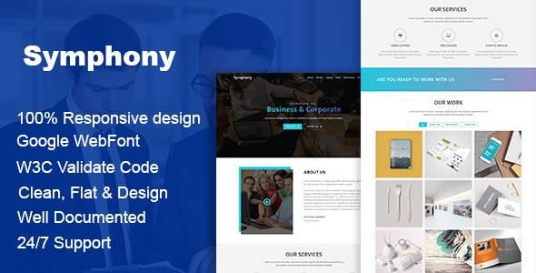 Symphony - Multipurpose Business HTML Template            TFx Bademus Garfield