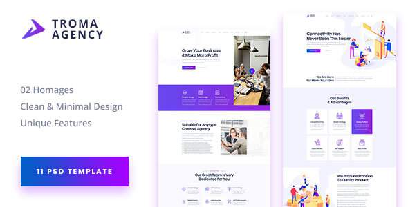 TROMA - Creative Agency PSD Template            TFx Raharjo Laurence