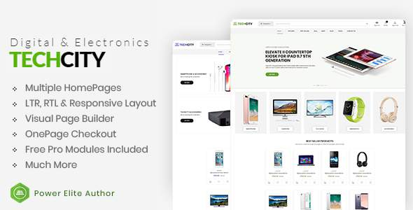 TechCity - The Premium Digital & Electronics Opencart 3 Theme            TFx Langdon Shelton