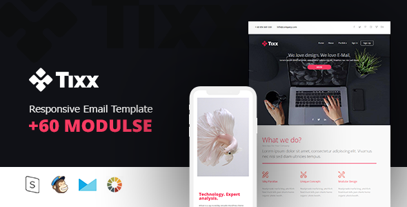 Tixx – Responsive Email Template Minimal            TFx Earle Lonny