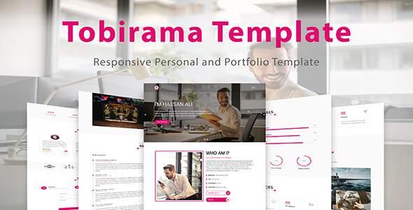Tobirama - Responsive Personal and Portfolio Template            TFx Edward Brendon