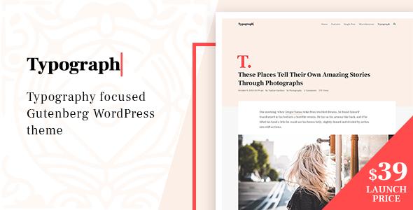 Typograph – Content Focused Gutenberg WordPress Blog Theme            TFx Ryouta Dusty