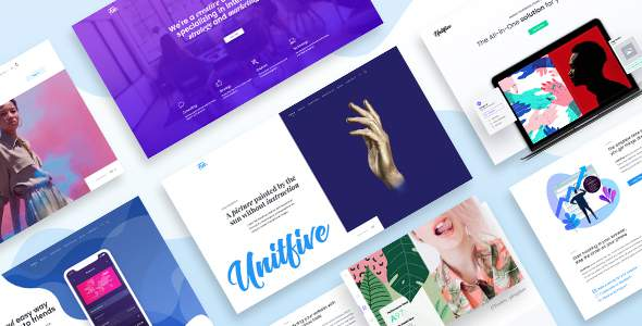 Unit Five – Creative Multipurpose PSD Template for Agency and Corporate            TFx Headley Montgomery