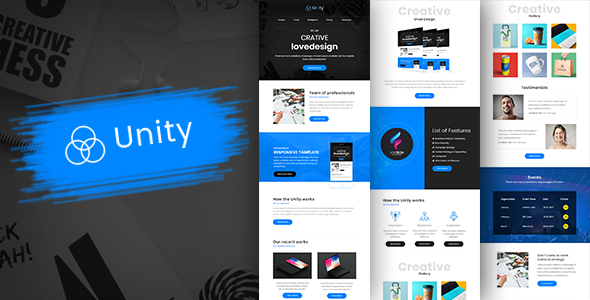 Unity-Multipurpose Responsive Business Email Template + Builder            TFx Woodie Adair