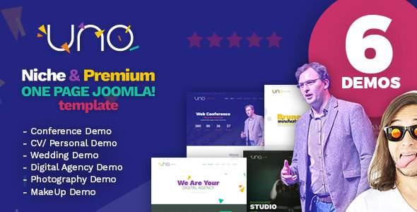 Uno - Premium Niche One Page Joomla Template            TFx Jackie Jett