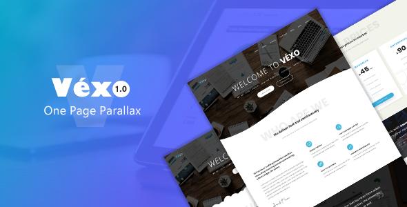 Véxo – One Page Parallax            TFx Van Daisuke